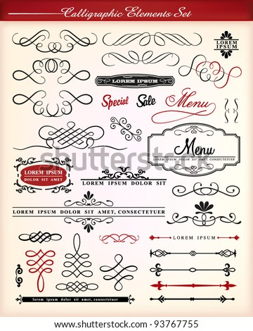 Vector set of decorative element. - stock vector