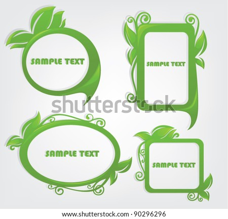vector set of decorative floral frames - stock vector