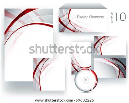 vector set of design elements. Eps10 - stock vector