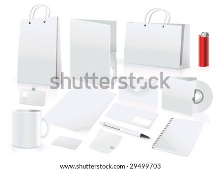 vector set of design elements for corporate identity - stock vector