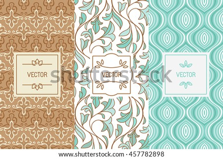 Vector set design elements seamless patterns stock photo photo vector set of design elements seamless patterns and label templates for cosmetic and beauty product colourmoves