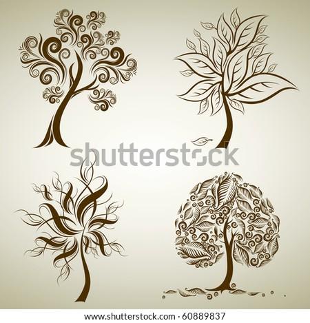 vector illustration false acacia tree robinia stock vector 504076840 shutterstock. Black Bedroom Furniture Sets. Home Design Ideas