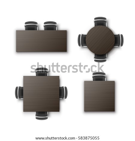 Vector set different round square rectangular stock vector for Comedor vector
