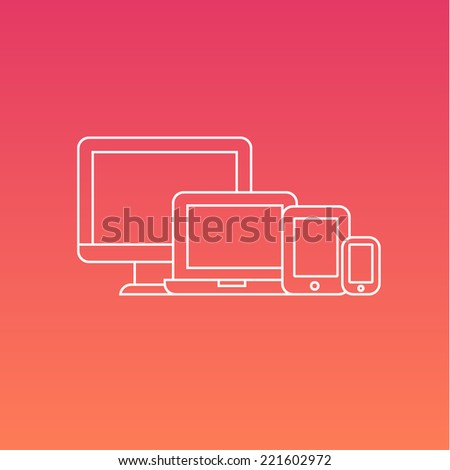 Vector set of Digital Electronic devices - stock vector