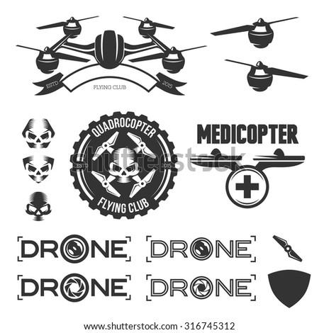 drone stock vectors vector clip art shutterstock. Black Bedroom Furniture Sets. Home Design Ideas