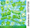Vector Set of 26 Eco-Friendly Items - stock vector