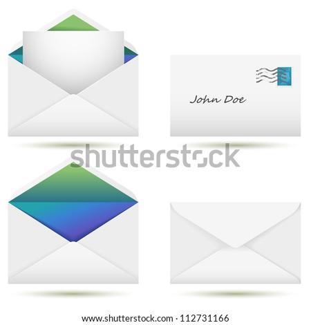 Vector set of envelopes - stock vector