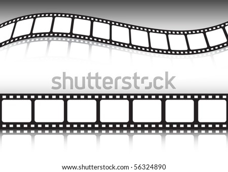 Vector set of film strip backgrounds