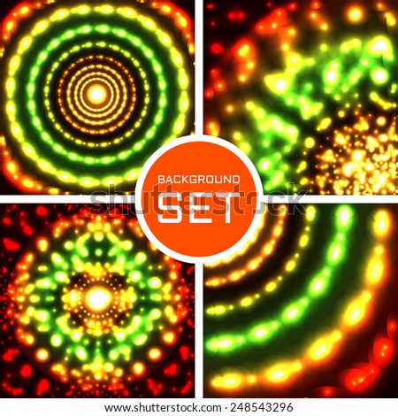 Vector set of four color backgrounds. 4 in 1 . Eps10 - stock vector