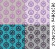 Vector set of four colorful seamless pattern - stock vector