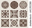 Vector set of gothic elements - stock