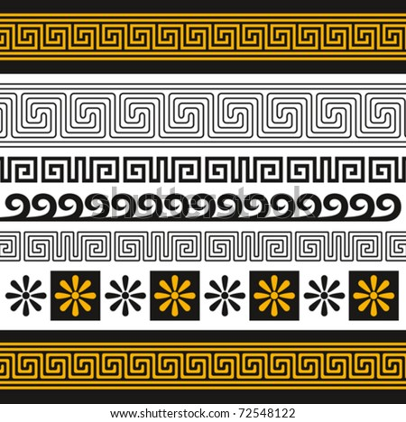 vector set of greece ornaments, you can decorate with them anything - stock vector