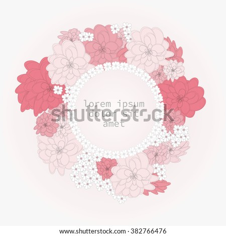 Vector set of greeting cards-invitations - berry background.