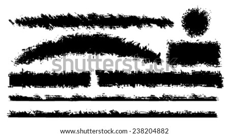 Vector set of grunge brush - stock vector