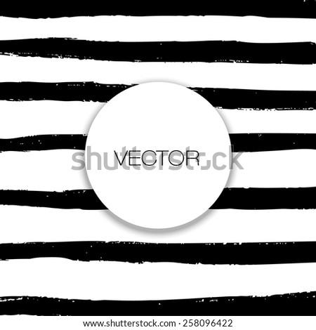 Vector set of grunge brush strokes. Black vector brush strokes collection. - stock vector