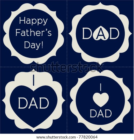 Vector set of Happy Father's Day artwork