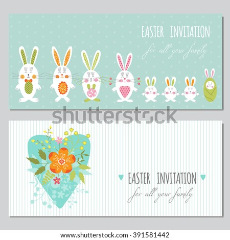 Vector Day Families Card Template Cute Stock Vector
