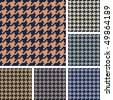 Vector set of houndstooth pattern - stock vector