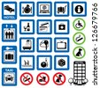 vector set of information symbols for the hotel. - stock photo