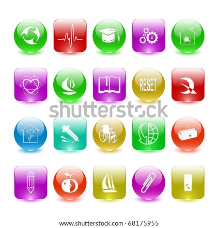 Vector set of interface elements - stock vector