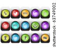 Vector set of internet buttons - stock photo