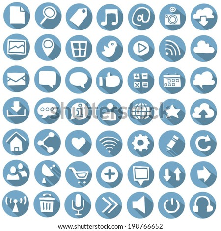 vector set of internet icon