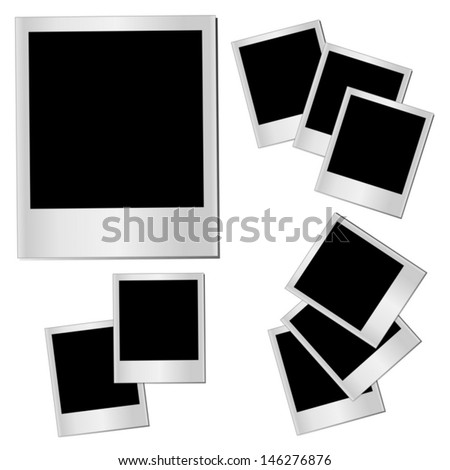 Vector set of isolated Photo frames - stock vector