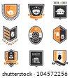 Vector set of kitchen badges - stock vector