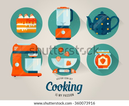 Kitchen Collection Logo vector kitchen cover cooking design print stock vector 416613361