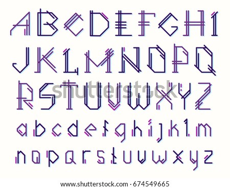 Vector Set Of Letters The English Alphabet On White Background Uppercase And Lowercase Color