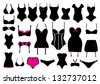 Vector set of lingerie - stock vector