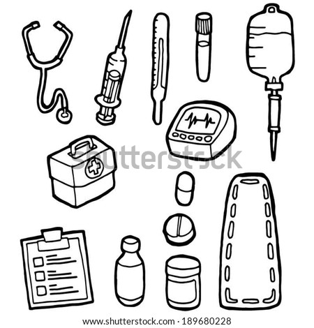 Vector Set Medical Equipment Stock Vector 189680228