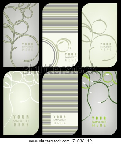 Vector set of modern beautiful business cards - stock vector