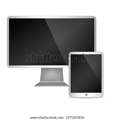 Vector set of Modern Digital devices - stock vector