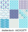 Vector set of nine seamless pattern - stock vector