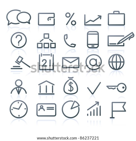 Vector set of original business icons - stock vector