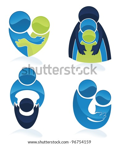 vector set of people, love, family and communication - stock vector