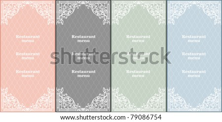 vector set of restaurant  menu cards - stock vector