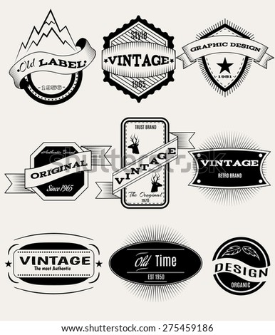 Vector set of retro banners for design - stock vector