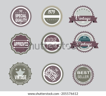 Vector - Set of retro vintage badges and labels
