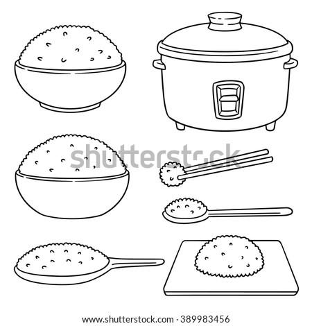 Vector Set Rice 336617648
