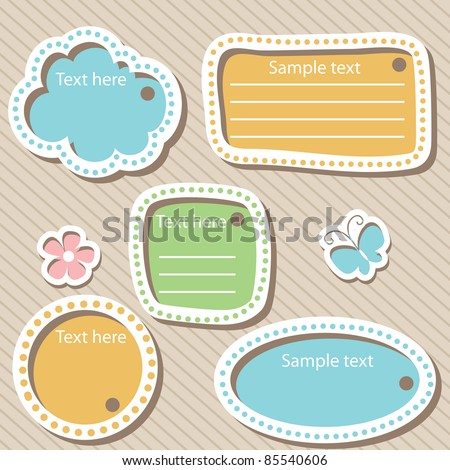 vector set of scrapbook elements - stock vector