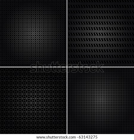 Vector set of seamless ornament background