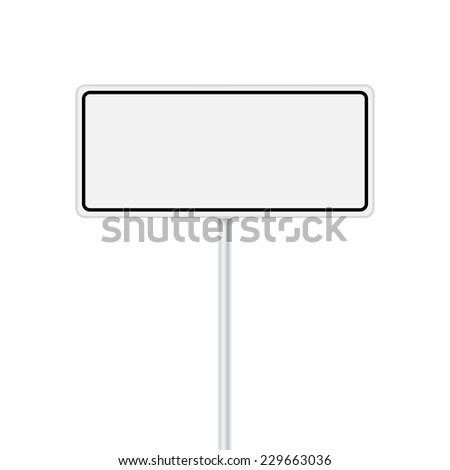 Vector set of signpost on isolated white background - stock vector