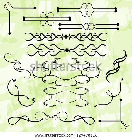 Vector set of simple vintage items - stock vector