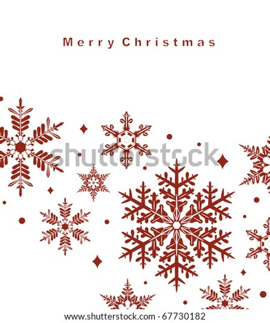Vector set of snowflakes background - stock vector