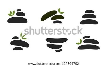 Vector set of spa stones for healthcare products - stock vector