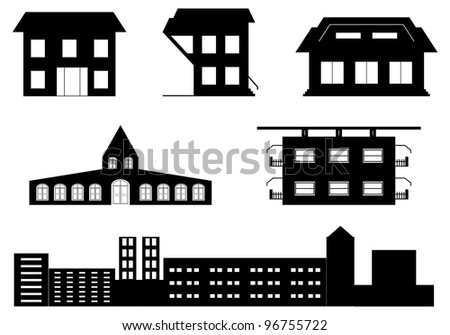 vector set of special buildings - stock vector