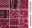 Vector set of stylish seamless patterns. - stock vector