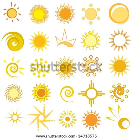 Vector set of sun / solar icons